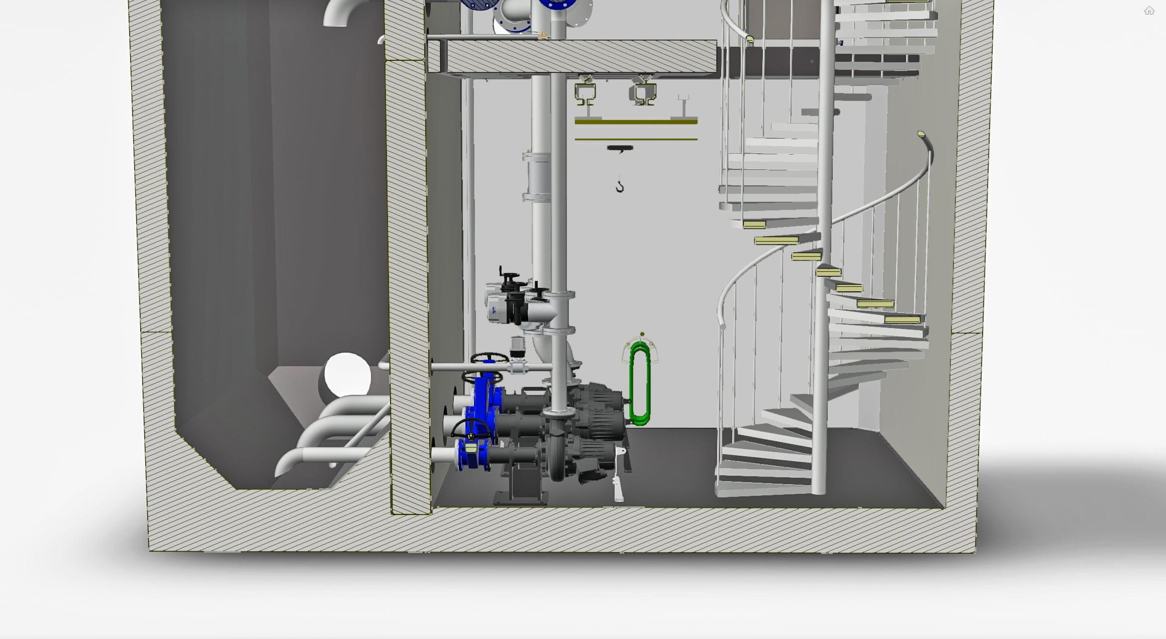 VM Pumpstation: interiör maskinrum