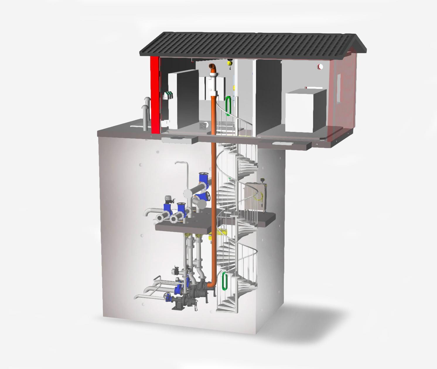 VM Pumpstation: genomskärning