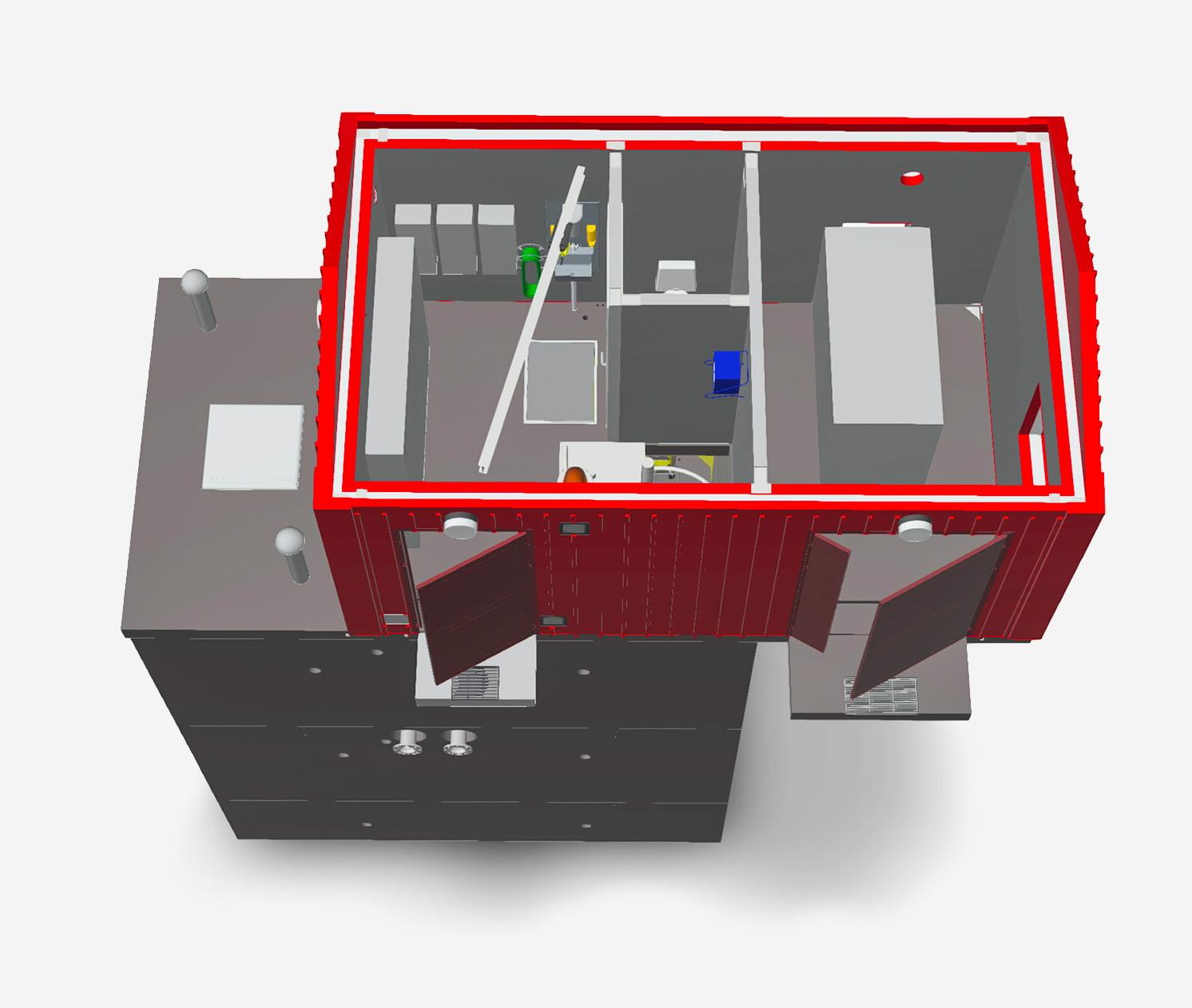 VM Pumpstation: genomskärning överbyggnad